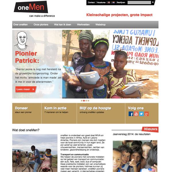 oneMen website