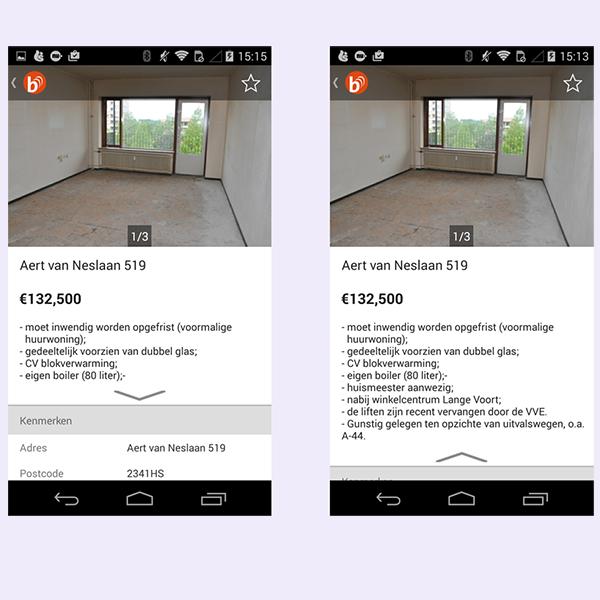 Mobile screen comparison